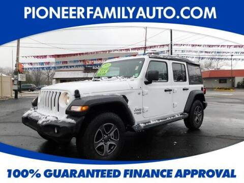 2018 Jeep Wrangler Unlimited for sale at Pioneer Family auto in Marietta OH