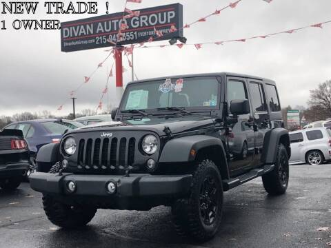 2016 Jeep Wrangler Unlimited for sale at Divan Auto Group in Feasterville PA