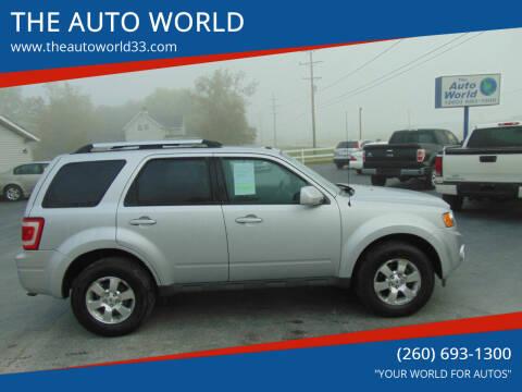 2011 Ford Escape for sale at THE AUTO WORLD in Churubusco IN