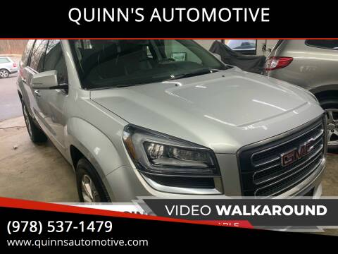 2014 GMC Acadia for sale at QUINN'S AUTOMOTIVE in Leominster MA