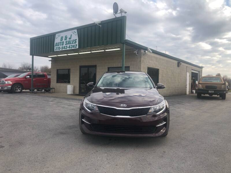 2018 Kia Optima for sale at B & J Auto Sales in Auburn KY