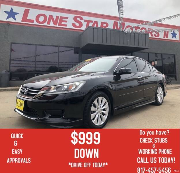 2013 Honda Accord for sale at LONE STAR MOTORS II in Fort Worth TX