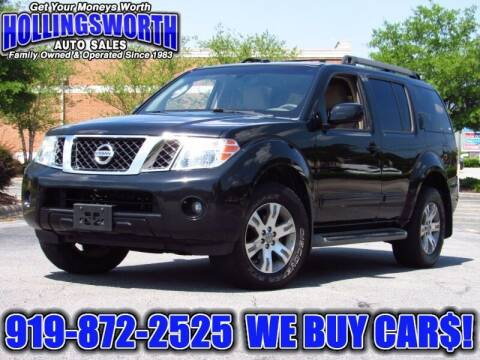 2010 Nissan Pathfinder for sale at Hollingsworth Auto Sales in Raleigh NC