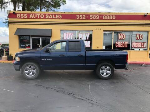 2005 Dodge Ram Pickup 1500 for sale at BSS AUTO SALES INC in Eustis FL
