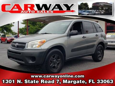 2005 Toyota RAV4 for sale at CARWAY Auto Sales in Margate FL