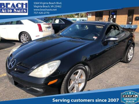 2007 Mercedes-Benz SLK for sale at Beach Auto Sales in Virginia Beach VA