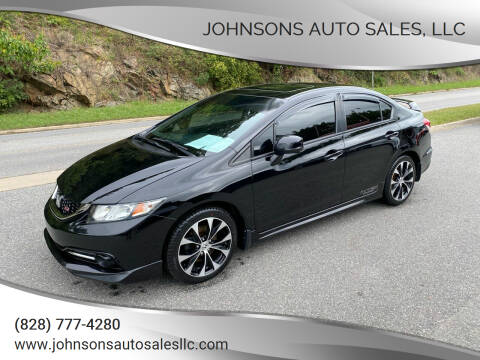 2013 Honda Civic for sale at Johnsons Auto Sales, LLC in Marshall NC