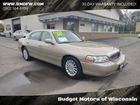 2004 Lincoln Town Car for sale at Budget Motors of Wisconsin in Racine WI