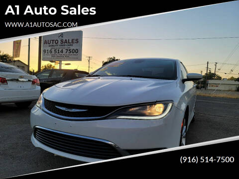 2015 Chrysler 200 for sale at A1 Auto Sales in Sacramento CA