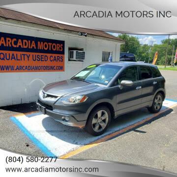 2008 Acura RDX for sale at ARCADIA MOTORS INC in Heathsville VA