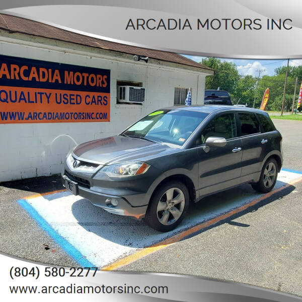 2008 Acura RDX for sale at ARCADIA MOTORS INC in Heathsville VA
