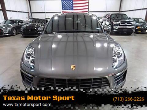 2015 Porsche Macan for sale at Texas Motor Sport in Houston TX
