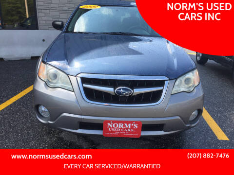 2009 Subaru Outback for sale at NORM'S USED CARS INC in Wiscasset ME