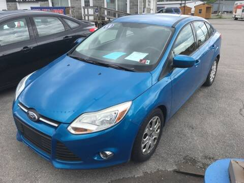 2012 Ford Focus for sale at RACEN AUTO SALES LLC in Buckhannon WV
