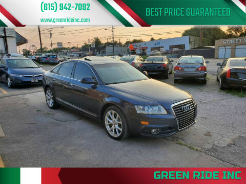 2011 Audi A6 for sale at Green Ride Inc in Nashville TN