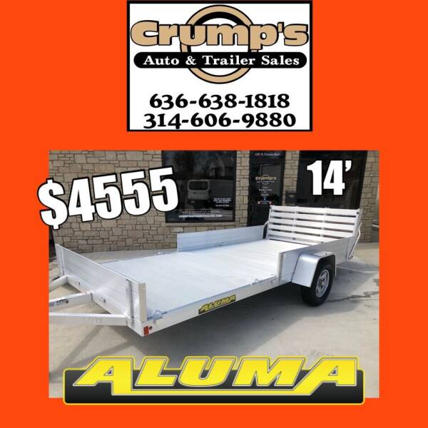 2022 Aluma 14' Utility Trailer for sale at CRUMP'S AUTO & TRAILER SALES in Crystal City MO