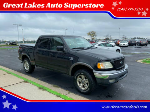 2002 Ford F-150 for sale at Great Lakes Auto Superstore in Waterford Township MI