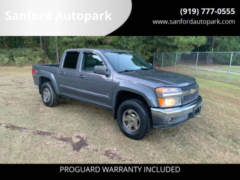 2008 Chevrolet Colorado for sale at Sanford Autopark in Sanford NC