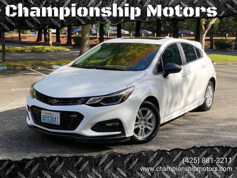 2018 Chevrolet Cruze for sale at Championship Motors in Redmond WA