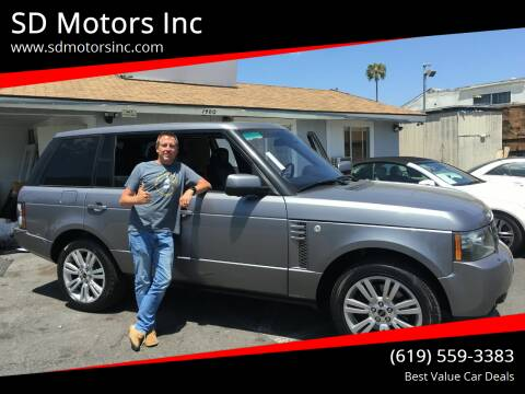 2012 Land Rover Range Rover for sale at SD Motors Inc in La Mesa CA