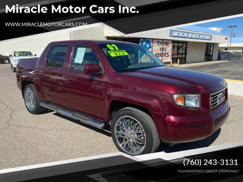 2007 Honda Ridgeline for sale at Miracle Motor Cars Inc. in Victorville CA