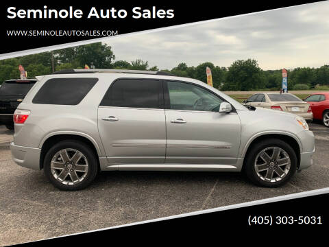 2011 GMC Acadia for sale at Seminole Auto Sales in Seminole OK
