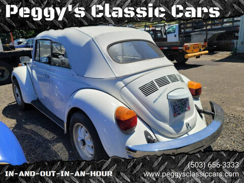 1978 Volkswagen Beetle Convertible for sale at Peggy's Classic Cars in Oregon City OR
