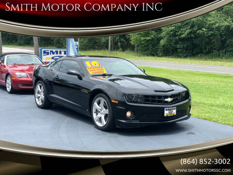 2010 Chevrolet Camaro for sale at Smith Motor Company INC in Mc Cormick SC