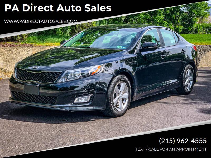 2014 Kia Optima for sale at PA Direct Auto Sales in Levittown PA