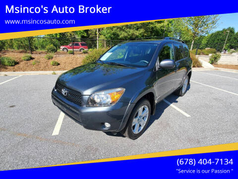 2008 Toyota RAV4 for sale at Msinco's Auto Broker in Snellville GA