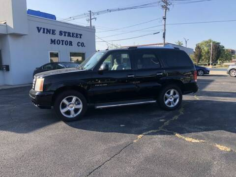 2005 Cadillac Escalade for sale at VINE STREET MOTOR CO in Urbana IL