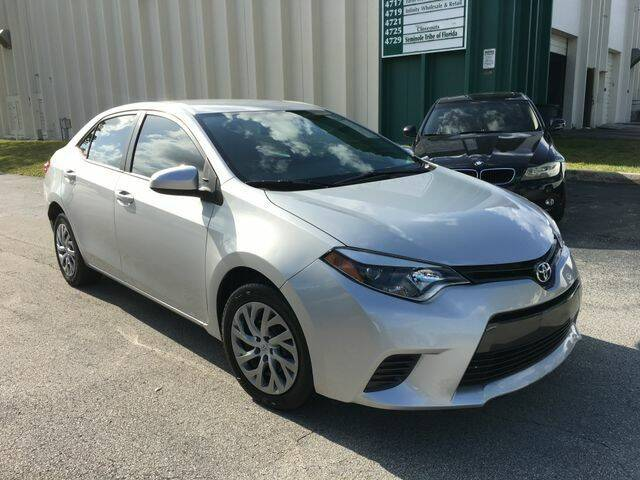 2015 Toyota Corolla for sale at Boss Automotive in Hollywood FL