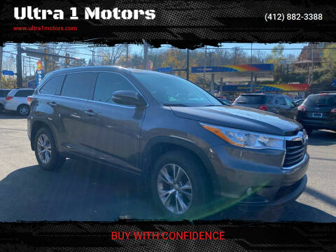 2014 Toyota Highlander for sale at Ultra 1 Motors in Pittsburgh PA
