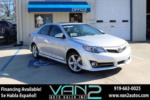2013 Toyota Camry for sale at Van 2 Auto Sales Inc in Siler City NC