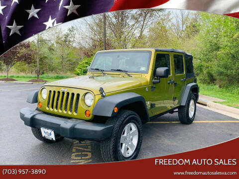 2007 Jeep Wrangler Unlimited for sale at Freedom Auto Sales in Chantilly VA