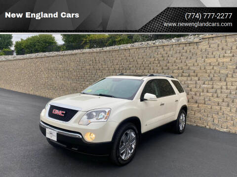 2010 GMC Acadia for sale at New England Cars in Attleboro MA