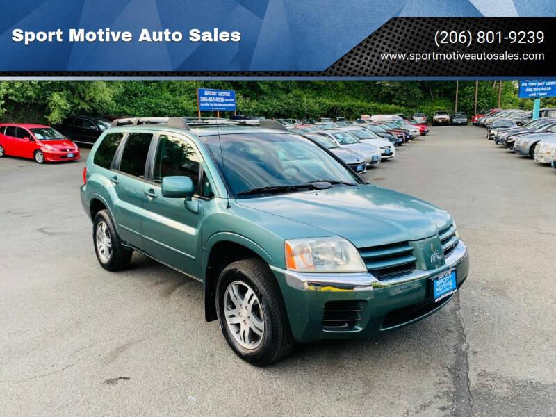 2004 Mitsubishi Endeavor for sale at Sport Motive Auto Sales in Seattle WA