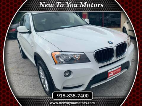 2013 BMW X3 for sale at New To You Motors in Tulsa OK