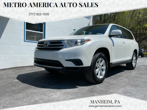 2011 Toyota Highlander for sale at METRO AMERICA AUTO SALES of Manheim in Manheim PA
