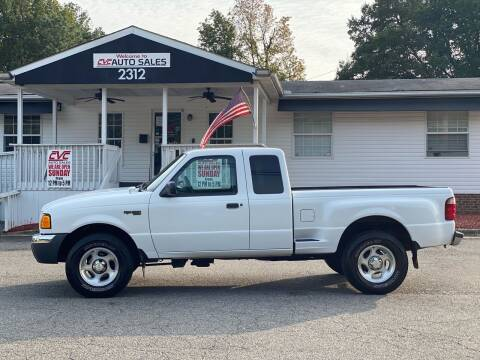 2001 Ford Ranger for sale at CVC AUTO SALES in Durham NC