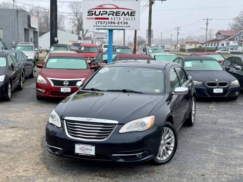 2011 Chrysler 200 for sale at Supreme Auto Sales in Chesapeake VA