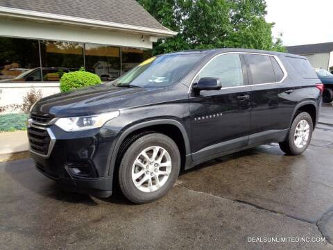 2018 Chevrolet Traverse for sale at DEALS UNLIMITED INC in Portage MI