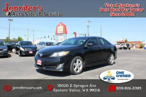 2012 Toyota Camry for sale at Jennifer's Auto Sales in Spokane Valley WA