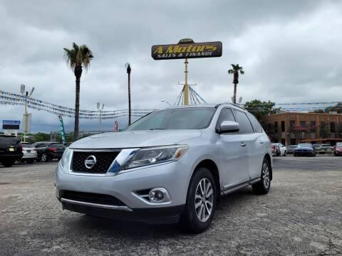 2013 Nissan Pathfinder for sale at A MOTORS SALES AND FINANCE - 10110 West Loop 1604 N in San Antonio TX