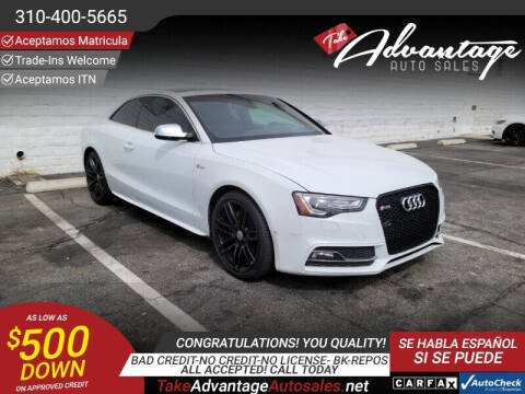 2015 Audi S5 for sale at ADVANTAGE AUTO SALES INC in Bell CA