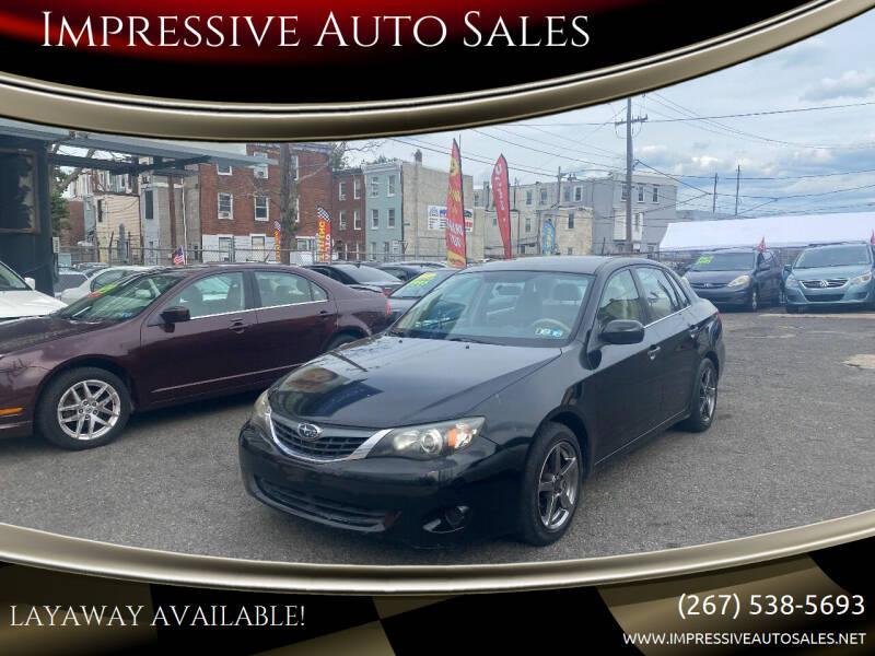2008 Subaru Impreza for sale at Impressive Auto Sales in Philadelphia PA