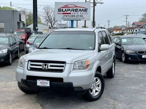 2008 Honda Pilot for sale at Supreme Auto Sales in Chesapeake VA