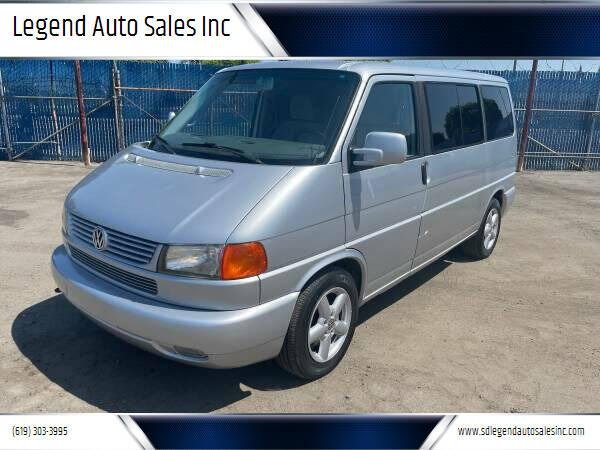 2002 Volkswagen EuroVan for sale at Legend Auto Sales Inc in Lemon Grove CA