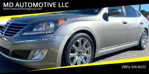 2012 Hyundai Equus for sale at MD AUTOMOTIVE LLC in Slidell LA
