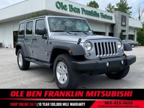 2018 Jeep Wrangler JK Unlimited for sale at Ole Ben Franklin Mitsbishi in Oak Ridge TN